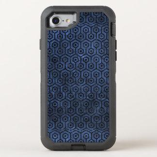 HEXAGON1 BLACK MARBLE & BLUE STONE (R) OtterBox DEFENDER iPhone 8/7 CASE