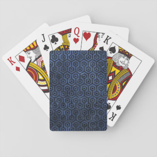 HEXAGON1 BLACK MARBLE & BLUE STONE (R) PLAYING CARDS