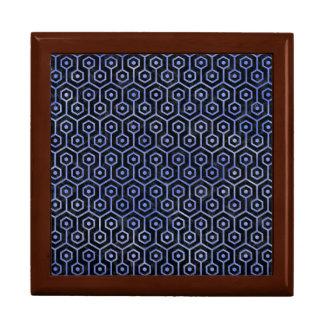HEXAGON1 BLACK MARBLE & BLUE WATERCOLOR GIFT BOX