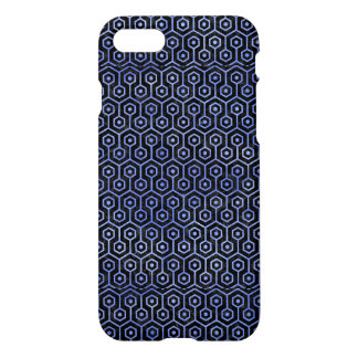HEXAGON1 BLACK MARBLE & BLUE WATERCOLOR iPhone 8/7 CASE