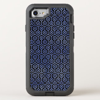 HEXAGON1 BLACK MARBLE & BLUE WATERCOLOR OtterBox DEFENDER iPhone 8/7 CASE