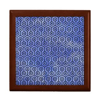 HEXAGON1 BLACK MARBLE & BLUE WATERCOLOR (R) GIFT BOX
