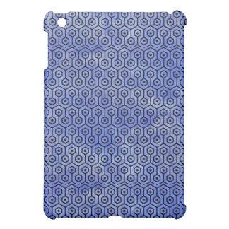 HEXAGON1 BLACK MARBLE & BLUE WATERCOLOR (R) iPad MINI CASE