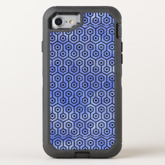 HEXAGON1 BLACK MARBLE & BLUE WATERCOLOR (R) OtterBox DEFENDER iPhone 8/7 CASE