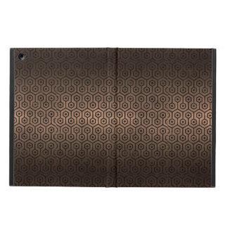 HEXAGON1 BLACK MARBLE & BRONZE METAL (R) CASE FOR iPad AIR