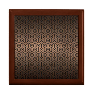 HEXAGON1 BLACK MARBLE & BRONZE METAL (R) GIFT BOX