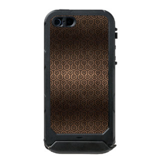 HEXAGON1 BLACK MARBLE & BRONZE METAL (R) INCIPIO ATLAS ID™ iPhone 5 CASE