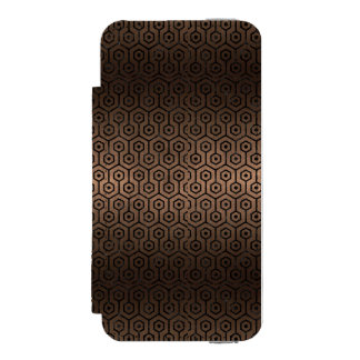 HEXAGON1 BLACK MARBLE & BRONZE METAL (R) INCIPIO WATSON™ iPhone 5 WALLET CASE