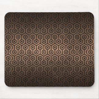 HEXAGON1 BLACK MARBLE & BRONZE METAL (R) MOUSE PAD