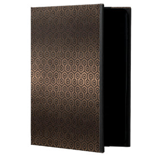 HEXAGON1 BLACK MARBLE & BRONZE METAL (R) POWIS iPad AIR 2 CASE