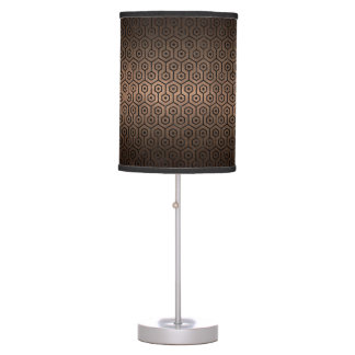HEXAGON1 BLACK MARBLE & BRONZE METAL (R) TABLE LAMP