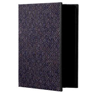 HEXAGON1 BLACK MARBLE & PURPLE MARBLE POWIS iPad AIR 2 CASE