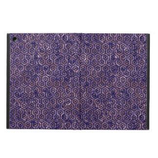 HEXAGON1 BLACK MARBLE & PURPLE MARBLE (R) iPad AIR COVER