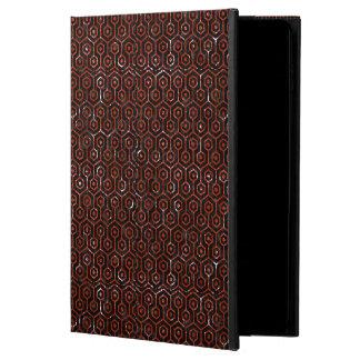HEXAGON1 BLACK MARBLE & RED MARBLE POWIS iPad AIR 2 CASE
