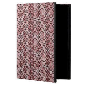 HEXAGON1 BLACK MARBLE & RED & WHITE MARBLE (R) POWIS iPad AIR 2 CASE