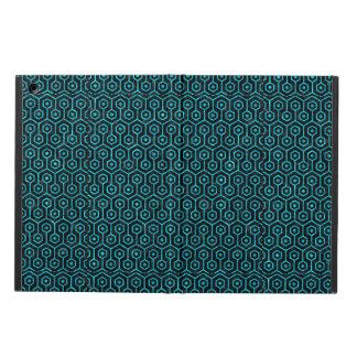 HEXAGON1 BLACK MARBLE & TURQUOISE MARBLE iPad AIR CASE