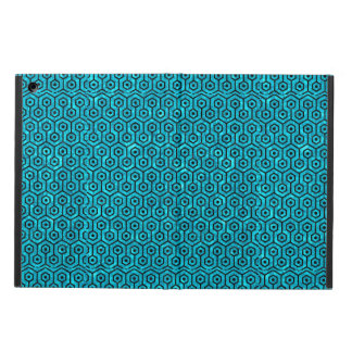 HEXAGON1 BLACK MARBLE & TURQUOISE MARBLE (R) COVER FOR iPad AIR