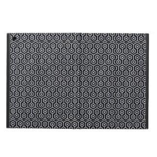HEXAGON1 BLACK MARBLE & WHITE MARBLE iPad AIR COVER