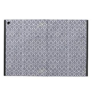 HEXAGON1 BLACK MARBLE & WHITE MARBLE (R) iPad AIR COVER