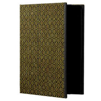 HEXAGON1 BLACK MARBLE & YELLOW MARBLE POWIS iPad AIR 2 CASE