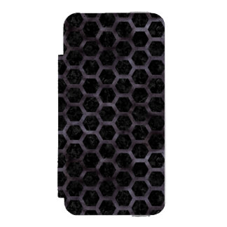 HEXAGON2 BLACK MARBLE & BLACK WATERCOLOR INCIPIO WATSON™ iPhone 5 WALLET CASE
