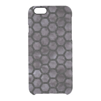 HEXAGON2 BLACK MARBLE & BLACK WATERCOLOR (R) CLEAR iPhone 6/6S CASE