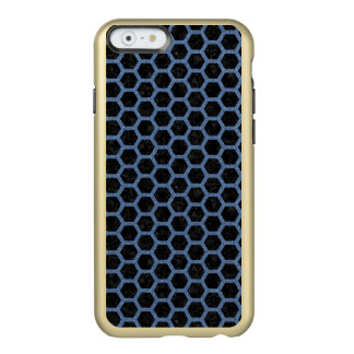 HEXAGON2 BLACK MARBLE & BLUE DENIM INCIPIO FEATHER® SHINE iPhone 6 CASE
