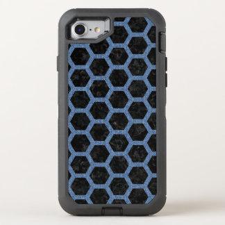 HEXAGON2 BLACK MARBLE & BLUE DENIM OtterBox DEFENDER iPhone 8/7 CASE