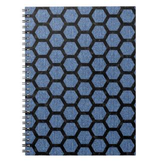 HEXAGON2 BLACK MARBLE & BLUE DENIM (R) NOTEBOOKS