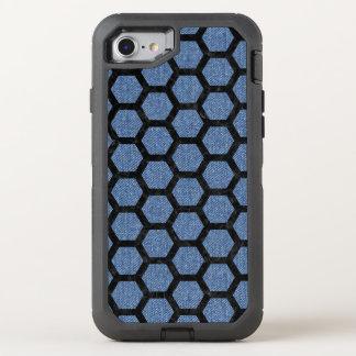 HEXAGON2 BLACK MARBLE & BLUE DENIM (R) OtterBox DEFENDER iPhone 8/7 CASE