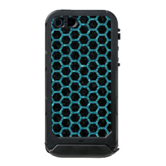 HEXAGON2 BLACK MARBLE & BLUE-GREEN WATER INCIPIO ATLAS ID™ iPhone 5 CASE