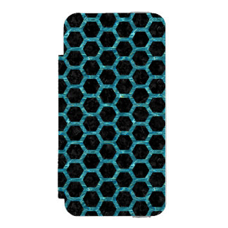 HEXAGON2 BLACK MARBLE & BLUE-GREEN WATER INCIPIO WATSON™ iPhone 5 WALLET CASE