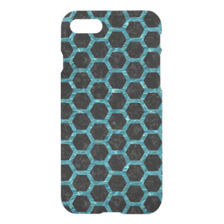 HEXAGON2 BLACK MARBLE & BLUE-GREEN WATER iPhone 8/7 CASE