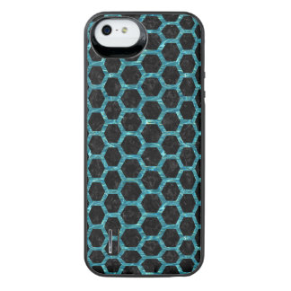 HEXAGON2 BLACK MARBLE & BLUE-GREEN WATER iPhone SE/5/5s BATTERY CASE