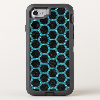 HEXAGON2 BLACK MARBLE & BLUE-GREEN WATER OtterBox DEFENDER iPhone 8/7 CASE