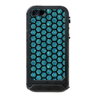 HEXAGON2 BLACK MARBLE & BLUE-GREEN WATER (R) INCIPIO ATLAS ID™ iPhone 5 CASE