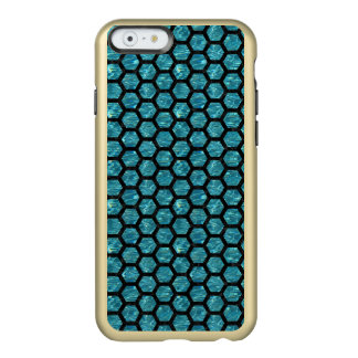 HEXAGON2 BLACK MARBLE & BLUE-GREEN WATER (R) INCIPIO FEATHER® SHINE iPhone 6 CASE