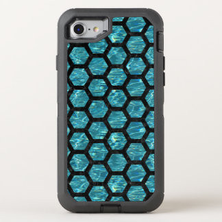 HEXAGON2 BLACK MARBLE & BLUE-GREEN WATER (R) OtterBox DEFENDER iPhone 8/7 CASE