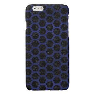 HEXAGON2 BLACK MARBLE & BLUE LEATHER