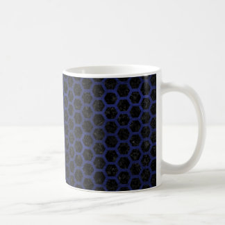 HEXAGON2 BLACK MARBLE & BLUE LEATHER COFFEE MUG