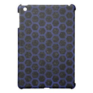 HEXAGON2 BLACK MARBLE & BLUE LEATHER iPad MINI COVERS