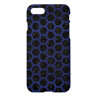 HEXAGON2 BLACK MARBLE & BLUE LEATHER iPhone 8/7 CASE