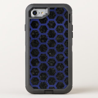 HEXAGON2 BLACK MARBLE & BLUE LEATHER OtterBox DEFENDER iPhone 8/7 CASE