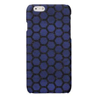 HEXAGON2 BLACK MARBLE & BLUE LEATHER (R)