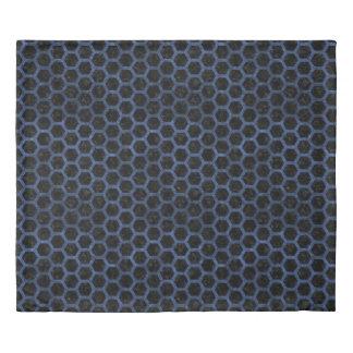 HEXAGON2 BLACK MARBLE & BLUE STONE DUVET COVER