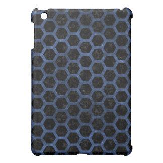 HEXAGON2 BLACK MARBLE & BLUE STONE iPad MINI COVERS
