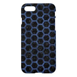 HEXAGON2 BLACK MARBLE & BLUE STONE iPhone 8/7 CASE