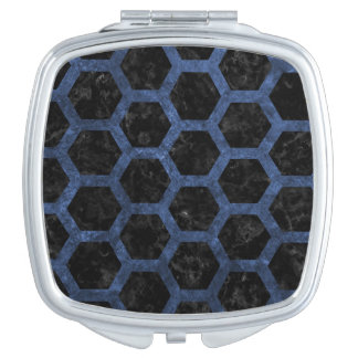 HEXAGON2 BLACK MARBLE & BLUE STONE MIRROR FOR MAKEUP