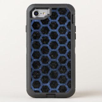 HEXAGON2 BLACK MARBLE & BLUE STONE OtterBox DEFENDER iPhone 8/7 CASE