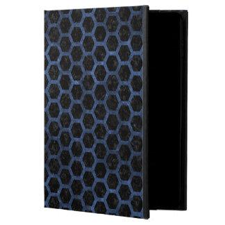 HEXAGON2 BLACK MARBLE & BLUE STONE POWIS iPad AIR 2 CASE